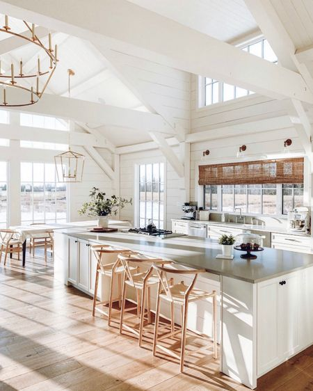 """Love the sunshine that pours in in my sister @lindsayjbolton 's beautiful home. ☀️   I wrote a blog post with all the details on their home, head over to the link in my bio and search """"house on the prairies"""" on my blog for links, paint color info, flooring and more.    http://liketk.it/3fs0U #liketkit @liketoknow.it #LTKhome @liketoknow.it.home"""