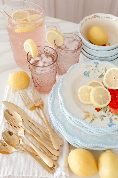 #ad Bright and colorful summer tableware from Walmart!   #LTKhome