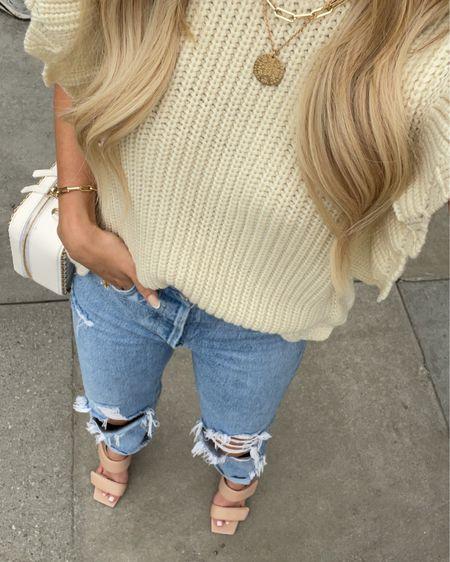 Sweater: XS Jeans: RUN BIG!! Wearing a 23 http://liketk.it/3hSuV #liketkit @liketoknow.it