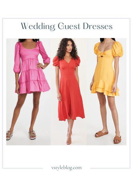 Wedding Guest Dresses, Summer Dress, Midi Dress, Mini Dress  Likely Avena Dress ($218), Saloni Margot Dress ($465), Significant Other Lavita Dress ($228)  #LTKwedding #LTKSeasonal #LTKfit