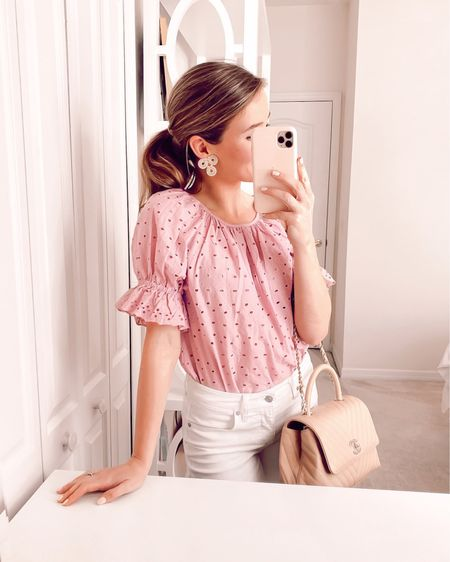 Bringing a bit of sunshine inside 🌸 This top is $25 and comes in white and yellow, too! It just puts a smile on my face. // Follow me on the LIKEtoKNOW.it shopping app to get the product details for this look and others http://liketk.it/2LxJF #liketkit @liketoknow.it