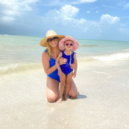 Twinning with my mini me on the beach. ☀️ Linked our matching swimsuits here: http://liketk.it/3jErW #liketkit @liketoknow.it #vacationava