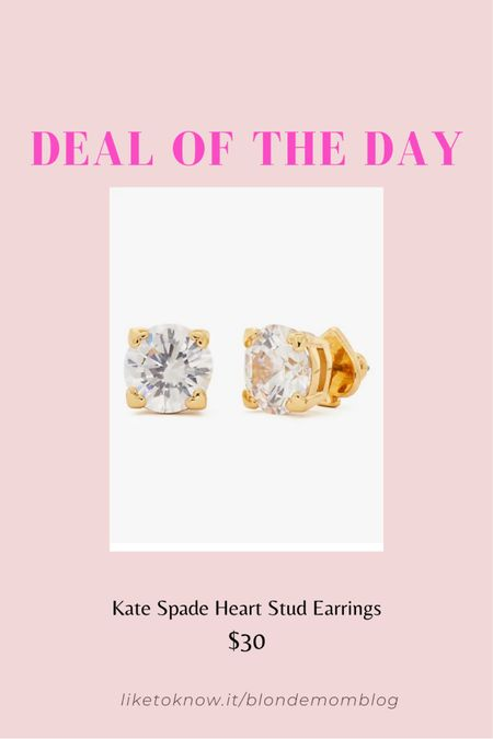Love these classic Kate Spade gold stud sparkly earrings! ✨ I feel like gold jewelry is making a comeback this year. What do you think?  #jewelry #earrings #katespade #studs #gold #goldjewelry #accessories  #LTKunder50 #LTKsalealert