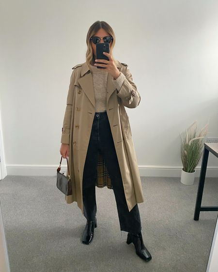 10 Pinterest inspired AW outfits 👉🏼  I'm always on the look out for outfit inspiration and @pinterestuk is one of my go-to places to search for outfit ideas.  Here are 10 outfits I've recreated using clothes I already own in my wardrobe.  3. Neutral knit, trench coat, heeled boots  #LTKstyletip #LTKeurope #LTKunder50