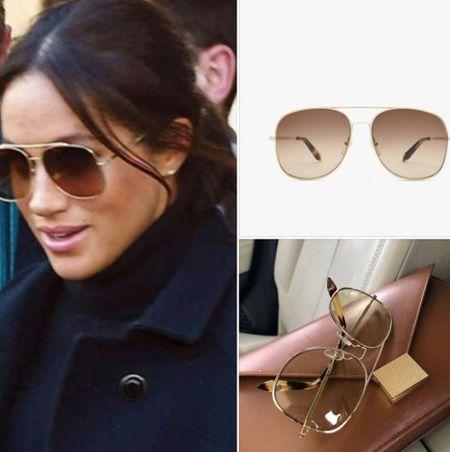 Meghan wearing Victoria Beckham aviator sunglasses   #LTKstyletip