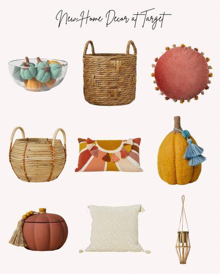Home decor, fall, autumn, Target, baskets, candle, pumpkins, pillows, plant holder, jungalow, Opalhouse   #LTKSeasonal #LTKunder50 #LTKhome