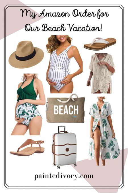🤰🏼Maternity Swimsuits, Beach Hat, Cover Ups, Beach Bag, and seriously THE MOST comfortable flip flops /sandals I've ever had by Reef and Vionics!   🌺 Everything you need for your next summer beach 🏝 getaway ✨    #LTKbump #LTKSeasonal #LTKswim