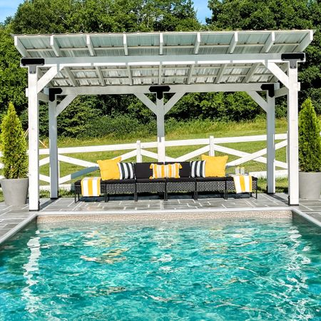 Here is my new DIY pergola all dressed up for summer #ad with the help of @walmart Walmart has amazing decor and is easy on the wallet too. Be sure to shop their new summer looks ans to find all those links check out @liketoknow.it or my blog for more details.    http://liketk.it/3ijIw #liketkit #walmartpartner #walmarthome
