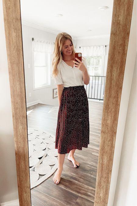 Polka Dot skirt!  #LTKunder50 #LTKstyletip #LTKsalealert