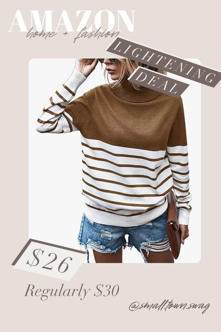 Amazon Lightening Deal — oversized sweater . Tons of colors available! . . . . . . Amazon sweater // sweaters oversized sweater // Amazon fashion // Amazon deals // Amazon finds // Amazon clothes // fall outfit // fall outfits // gifts for her // sweaters // striped sweater   #LTKSale #LTKGiftGuide #LTKHoliday
