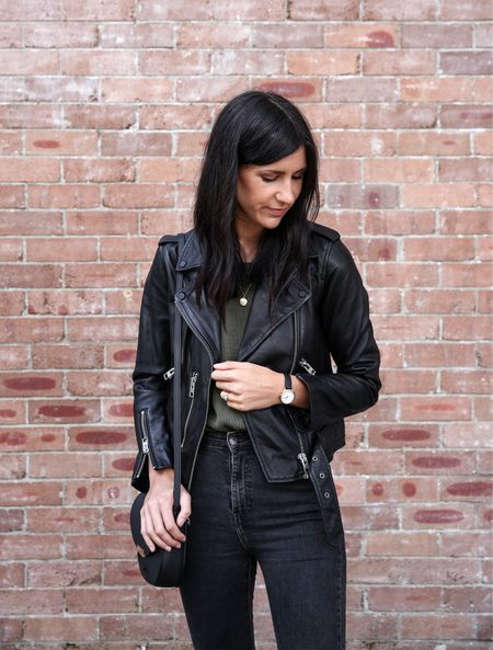 One of my top picks from the Nordstrom Anniversary Sale is this black leather jacket from All Saints. I w had mine for years and it's held up SO well! I wear the UK8 and am a US4 #nordstrom #nsale  #LTKsalealert #LTKSeasonal #LTKaustralia