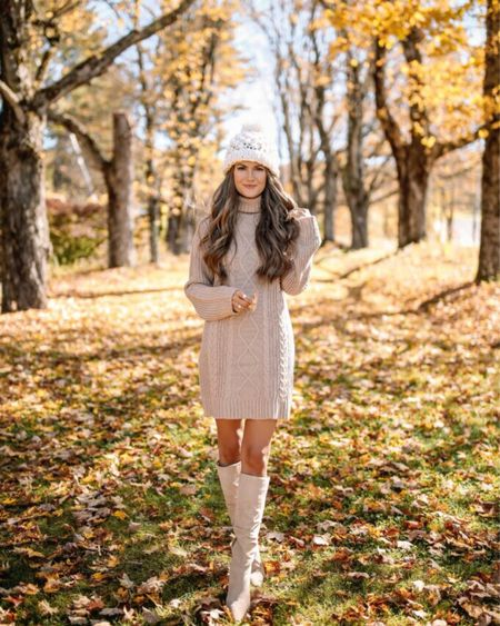 The Carla Cable Knit Sweater Dress Mocha  XS, TTS, cmcoving, Caitlin Covington, Pink Lily Collection, fall fashion, use code CAITLIN20 for 20% off!  #LTKunder100 #LTKsalealert #LTKSeasonal