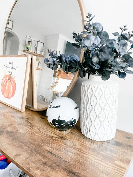 Halloween Decor, Entryway Decor, Faux Plants, Halloween Stems, Halloween Greenery, Home Decor   #LTKSeasonal #LTKunder50 #LTKHoliday
