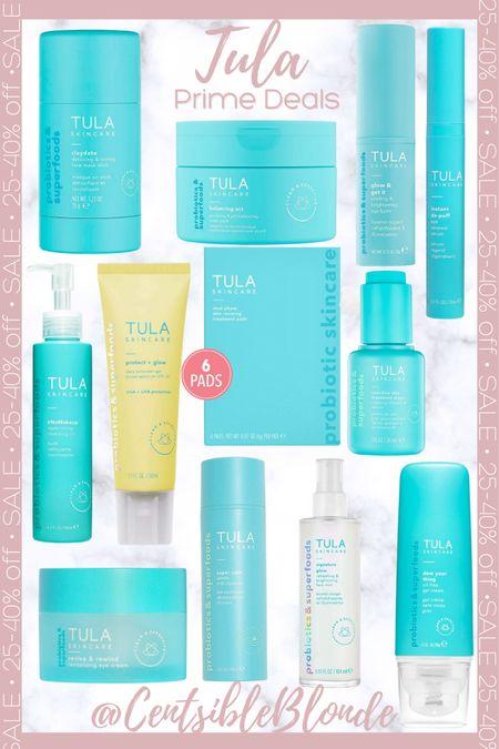 Tula skincare 25-40% off, natural skincare, probiotic skincare.    http://liketk.it/3ifuH #liketkit @liketoknow.it #LTKunder50 #LTKsalealert #LTKbeauty