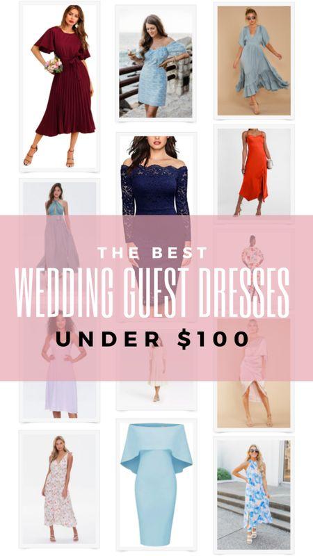 Summer wedding guest dresses under $100. Dresses for cocktail or black tie optional dress code. Beach dress, fancy dress, satin dress, floral dress, off shoulder dress. http://liketk.it/3h8AG @liketoknow.it #liketkit #LTKstyletip #LTKunder100 #LTKwedding