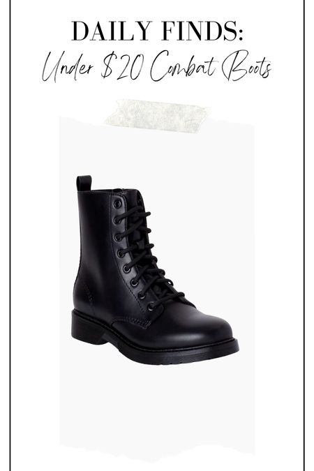 Under $20 combat boots! Black combat boots, fall boots, winter boots, affordable boots, Walmart style, Walmart boots   #LTKshoecrush #LTKstyletip #LTKunder50