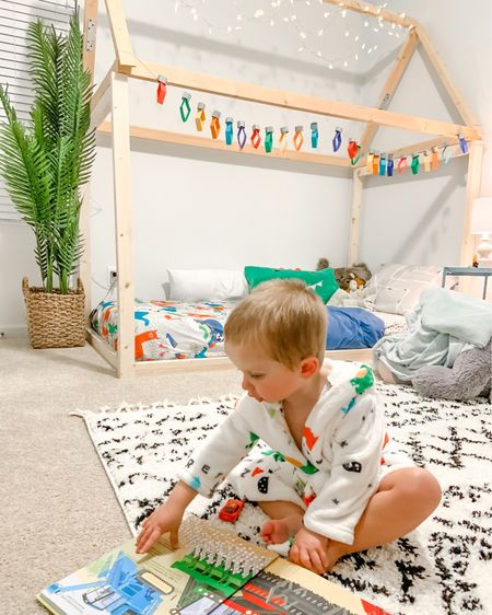 Does anyone else love watching their babies play in their room? 😍 I think it's the sweetest thing watching Tatum with his books and loving his bathrobe (from Christmas, that he just now would wear 😆) when we moved in I knew I wanted his room to be a colorful and fun space that he would want to play and be creative. I'm not sure who loves it more.. us or him ♥️🌴 🏡  • I've linked a few of our favorites from his room or something similar in my LIKEtoKNOW.it shop via my link in my bio.   http://liketk.it/3aEeq    #liketkit @liketoknow.it   #LTKhome #LTKfamily @liketoknow.it.family @liketoknow.it.home #LTKkids
