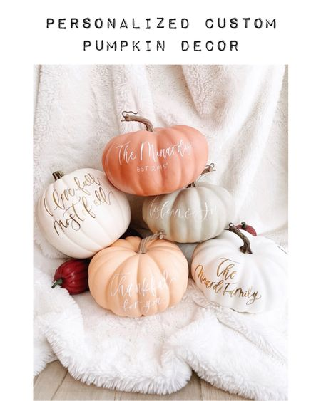✨Personalized Custom Pumpkin✨  These personalized pumpkins from Etsy are perfect for fall decor! You can also use it as a pregnancy announcement decor.  Each personalized pumpkin will be hand-lettered with the name or short phrase of your choice-- and can fit up to five words.   These pumpkins are craft (foam) pumpkins so they can be used over and over again, each fall season! How amazing is that? 🎈✨  Home decor Bar decor Halloween decor Halloween party Backyard entertainment  Kids birthday party ideas Halloween party ideas Party styling  Party planning  Party decor Baby announcement  Etsy finds Wedding announcement  Baby shower decor  #LTKkids #LTKhome #LTKstyletip #LTKunder50 #LTKunder100   #LTKfamily #LTKwedding  #LTKbaby #LTKbump #LTKSeasonal