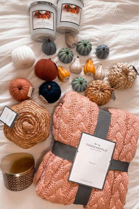 Fall Decor at Target ! Bullseye's playground finds Pumpkins Cozy knit blanket  #LTKhome #LTKunder100 #LTKSeasonal