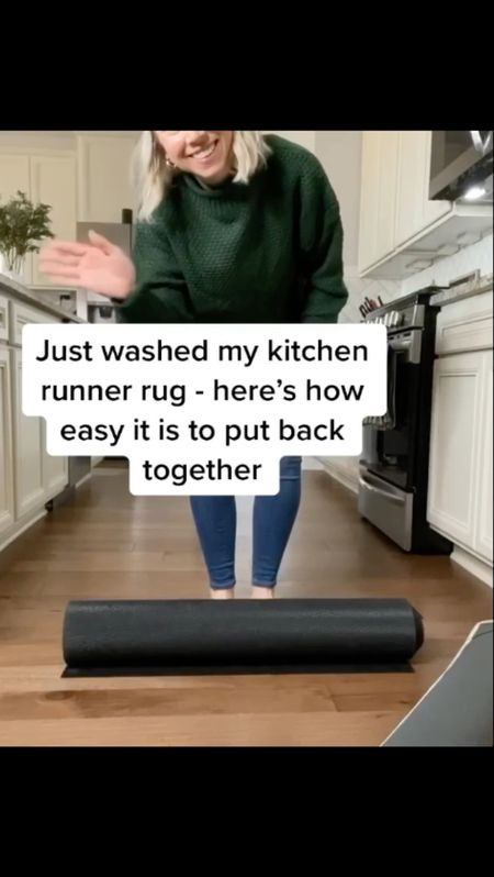 You know you're an adult when you're excited about your freshly washed kitchen rug. 😆 #weekendgoals   I've been asked questions about my kitchen runner rug and thought I'd film a quick video to show you how it goes together.  We've had our Ruggable rugs for over a year now and love them!  Rugs come in a bunch of patterns and sizes (we also have an area rug from there too).   Free shipping within the U.S. (exclusions apply)     Rug , runner rug , area rug , kitchen rug , washable rug , ruggable , home decor , kitchen decor , Fall decor , #ltkfamily  #LTKstyletip #LTKSeasonal #LTKhome