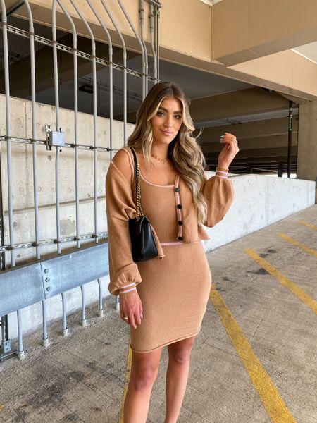 Wearing a Medium in the cardigan and dress   #LTKsalealert #LTKunder100 #LTKstyletip