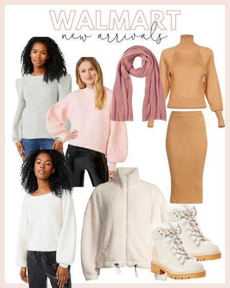 Rounding up a few Walmart new arrivals for fall! So excited about these new scoop sweaters, this cozy Sherpa and boots!   #LTKunder50 #LTKstyletip #LTKshoecrush
