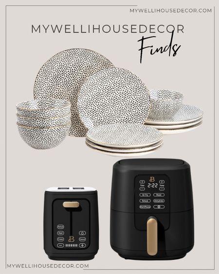 Walmart Kitchen finds! Air fry, toaster, dinnerware set  #LTKsalealert #LTKSeasonal #LTKhome