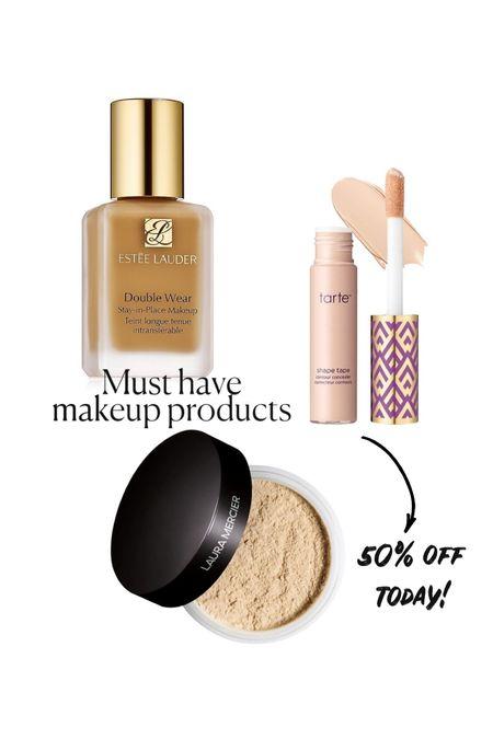 Must have makeup products: best long lasting foundation, my favorite concealer (50% off today!) and favorite setting powder    #LTKbeauty #LTKsalealert