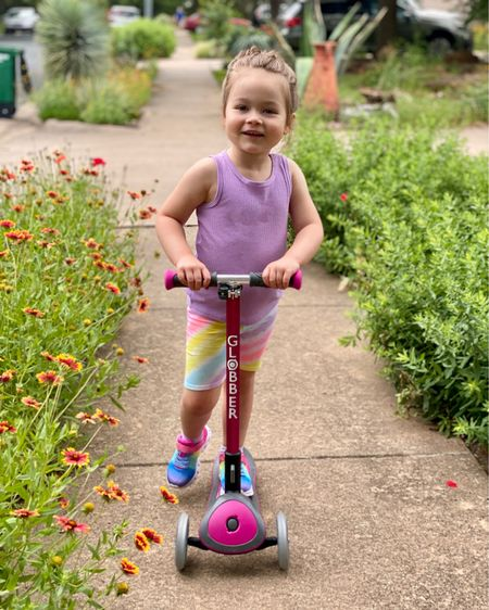 Scootin' right into summer! I restocked Baker's go to summer ensemble this weekend with the biker shorts and comfy tanks she'll have on repeat in the Texas heat! #walmartfinds #toddlerclothes #ltkkids #texasmom #austinmom http://liketk.it/3eYuv #liketkit @liketoknow.it http://liketk.it/3eYAB
