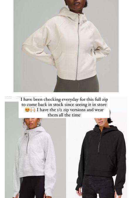 I wear XS/S in both sweatshirts!