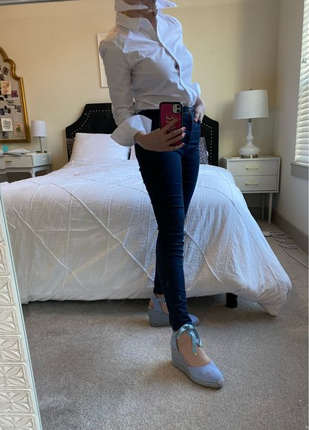 My absolute favorite shoes! These espadrilles are incredibly comfortable and add a fresh pop of color! #espadrilles #stuartweitzman #shoes   #LTKshoecrush #LTKfit #LTKworkwear