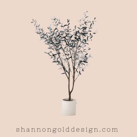 "76.5""x 30"" Artificial Olive Tree in Ceramic Pot  Faux Olive tree in white planter. Trending home decor.  #home #homedecor #plants   #LTKSeasonal #LTKhome #LTKstyletip"