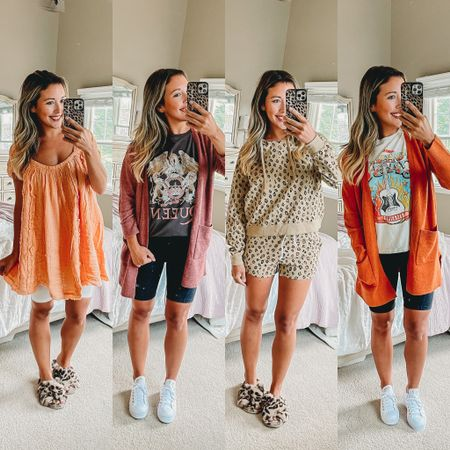 Which outfit is your favorite?? 🥰🥰🥰💕 love these comfy and casual looks from the N sale at Nordstrom!!! Biker shorts are so comfy and easy for momming and I love these vintage rock tees!! The cardigans are so soft and cozy! And I love anything flowy with my changing body postpartum! And matching sets just make picking out my mom ootd that much easier 😂😂😂 http://liketk.it/3k6qa #liketkit @liketoknow.it @liketoknow.it.family #LTKsalealert #LTKbump #LTKunder50