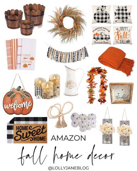 Amazon fall home decor!  Lolly Jane Blog | #LollyJaneBlog #LTKunder100 #LTKunder50 #LTKhome @liketoknow.it #liketkit http://liketk.it/3km0F