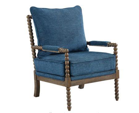 Spindle chair, blue chair, wood chair, coastal furniture, coastal home decor    #LTKunder100 #LTKsalealert #LTKhome