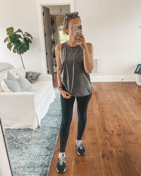 Amazon pilates/yoga workout clothes must haves. Love my new balance 574 sneakers! @liketoknow.it #liketkit #LTKfit #LTKunder50 http://liketk.it/3fOWZ
