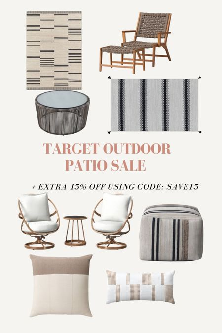 Target Patio Sale + extra 15% off using code: SAVE15 #liketkit http://liketk.it/3gu2D @liketoknow.it #LTKhome #LTKsalealert @liketoknow.it.home Shop your screenshot of this pic with the LIKEtoKNOW.it shopping app