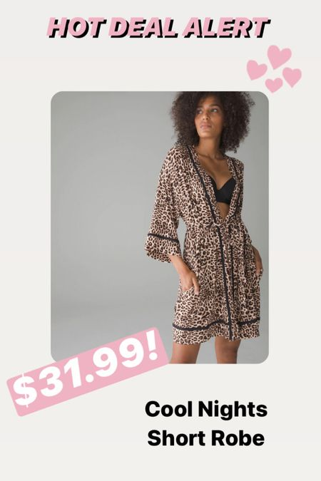 Super soft robe on mega sale! The Soma Cool Nights Soft Robe in leopard is on sale today. I have the pjs and they are so soft and cozy and help you feel cool all night. Grab this robe fast!  #StayHomeWithLTK #LTKsalealert #LTKNewYear