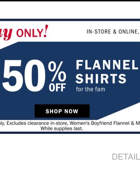 $15 flannels today only! http://liketk.it/2Ysmk #liketkit @liketoknow.it #LTKsalealert #LTKunder50 #ltkfall #ltkflannels #ltkfallfashion