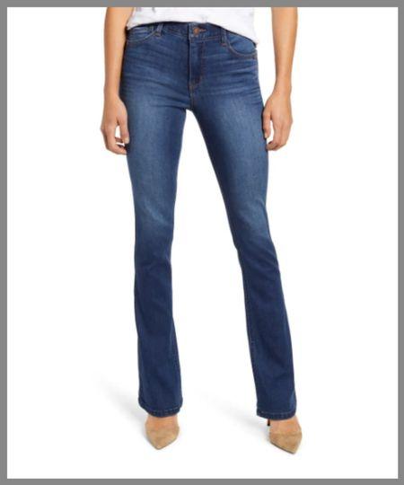 High-waisted light wash jeans in the Nordstrom anniversary sale. Denim Pants  #LTKunder50 #LTKunder100 #LTKsalealert