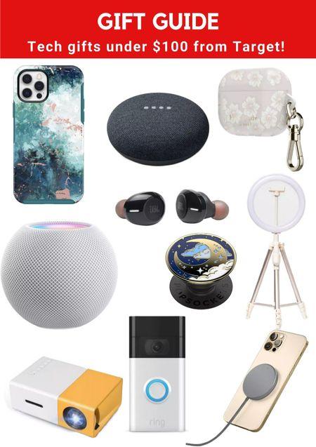 Gift guide: tech gift ideas under $100 from Target! #LTKGiftGuide #ltkunder100 #LTKSeasonal
