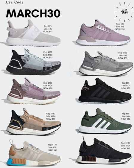 Adidas sneakers including ultrabooosts on major sale! Use code march30. Sale ends today! @liketoknow.it #liketkit http://liketk.it/2MbBU #LTKshoecrush #LTKunder100 #LTKunder50