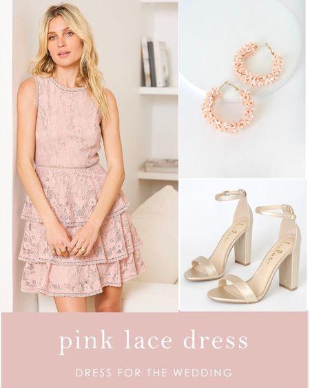 Pink lace dress, wedding guest dress #LTKwedding #LTKunder100 #LTKunder50 #LTKstyletip  #LTKsalealert  #LTKshoecrush #LTKitbag #LTKspring #LTKsummer #LTKSeasonal #LTKbeauty http://liketk.it/3ijCb #liketkit @liketoknow.it #weddingstyle #weddingguestdresses #prettydress #weddingoutfit #guestdresses #springdress #summerdress #springwedding #summerwedding  #outdoorwedding #daytimewedding #dress #dresses #affordableoutfit