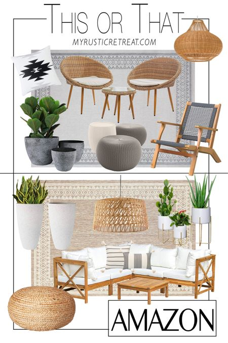 Another THIS OR THAT patio edition. 🙌🏼🙌🏼🙌🏼 Which one is your fave?! http://liketk.it/3jDKk #liketkit @liketoknow.it #LTKsalealert #LTKhome #LTKstyletip @liketoknow.it.home Shop your screenshot of this pic with the LIKEtoKNOW.it shopping app