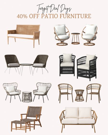 Target has the prettiest patio furniture this season and it's 40% off right now during Deal Days.   Double tap this post to save it for later.   Follow me for more ideas and sales.   #LTKsalealert #LTKhome #LTKSeasonal
