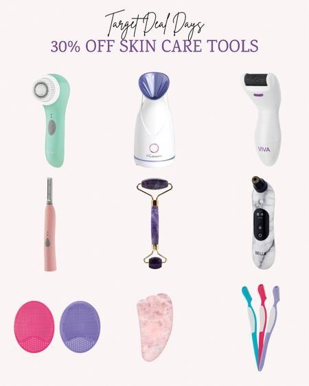 During Targets Deal Days get 30% off skin care tools. I love my rechargeable pedicure tool and I use the disposable eyebrow razors too. These new skin scrubbers are also a favorite.   Double tap this post to save it for later.   Follow me for more ideas and sales.   #LTKunder50 #LTKsalealert #LTKbeauty