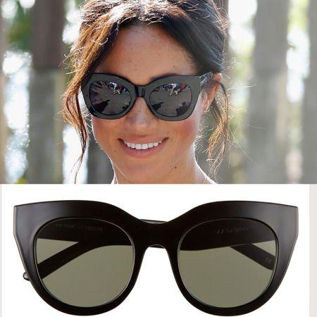 Meghan wearing Le Specs Air heart sunglasses #accessories