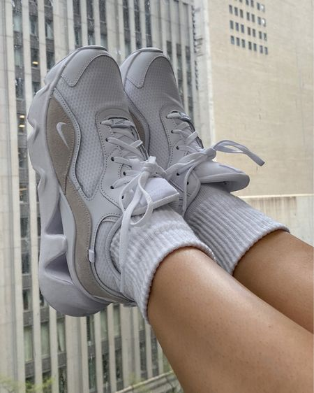 In case you're wondering which color of nikes I decided to keep from the poll months ago 🤪   Shoes under 100, comfy shoes, Nike shoes, tennis shoes, sneakers, white sneakers, neutral shoes  #LTKshoecrush #LTKunder100 #LTKstyletip