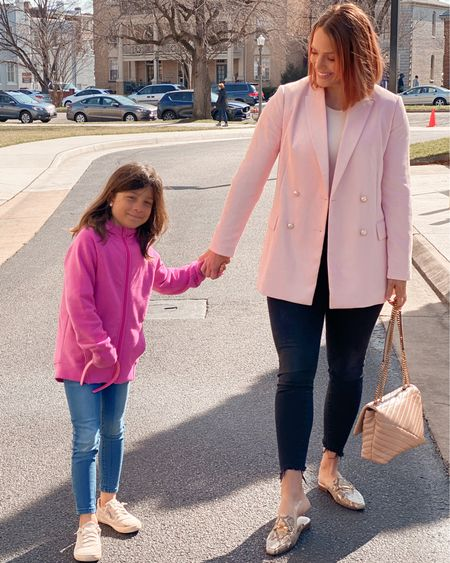 Pink ladies. - - - -   http://liketk.it/3aZDU #liketkit @liketoknow.it @liketoknow.it.family #LTKfamily #LTKkids #LTKSpringSale #firstdayofspring #peachhair #copperpeach