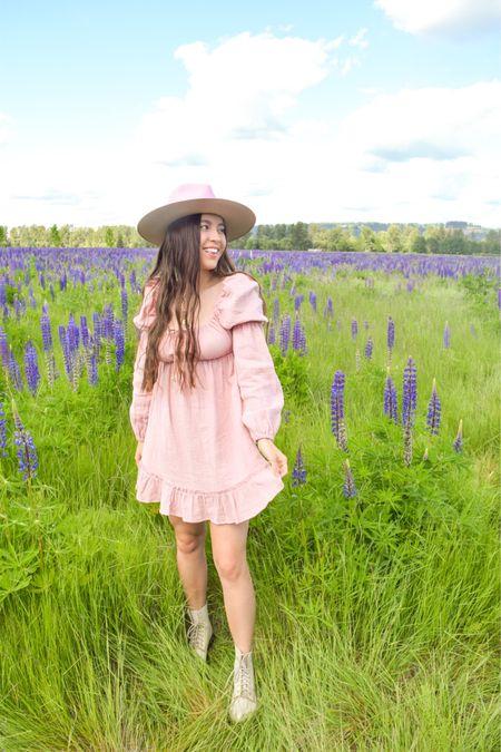 Pink outfits with Lack of Color rancher hat, Dr Martens pascal boots, & pink mini dress.  @liketoknow.it http://liketk.it/3hASZ #liketkit #LTKtravel #LTKsalealert